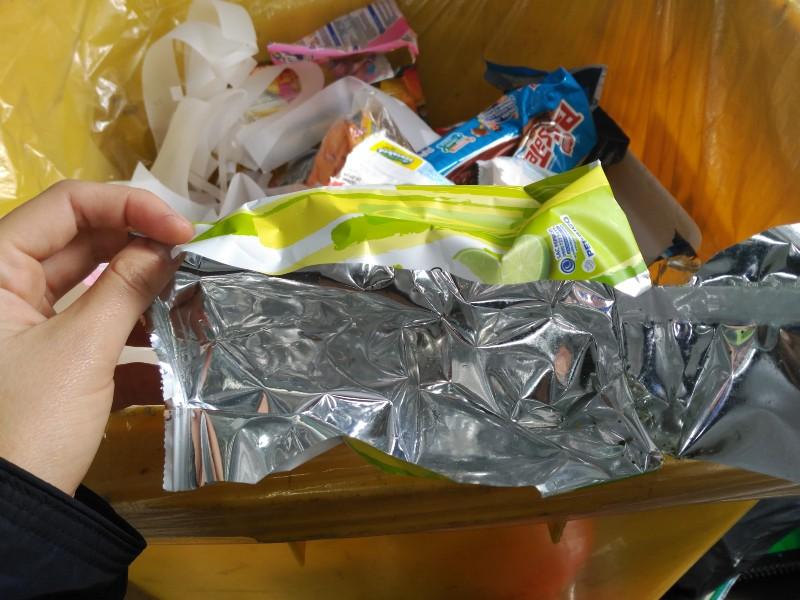Embalagem de salgadinho feita de BOPP